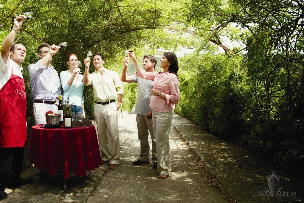 Silversea guests on wine tasting. Photo: Silversea Cruises.