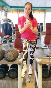 Selfie i gymmet på MSC Armonia