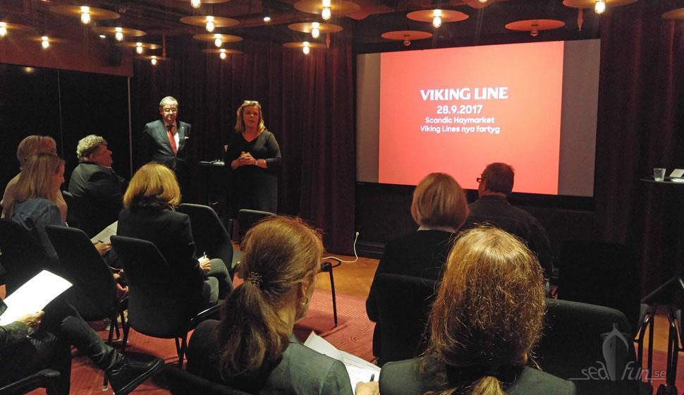 Viking Lines presentation för pressen hölls på Haymarket by Scandic.