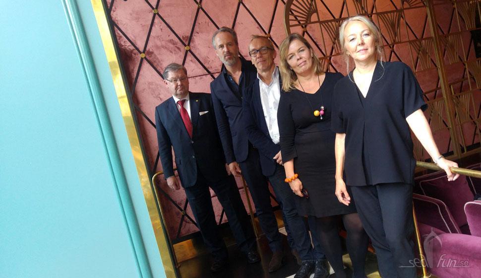 På pressmötet fanns både representanter från Viking Line och Koncept Stockholm.
