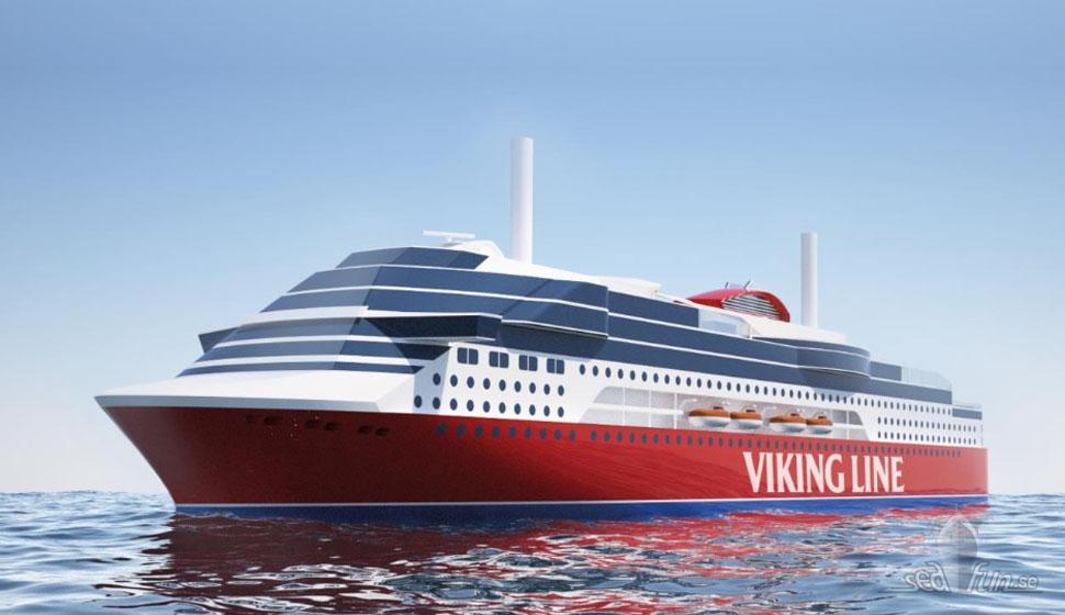 Viking Lines nya fartyg blir lika miljövänligt som systern Grace.