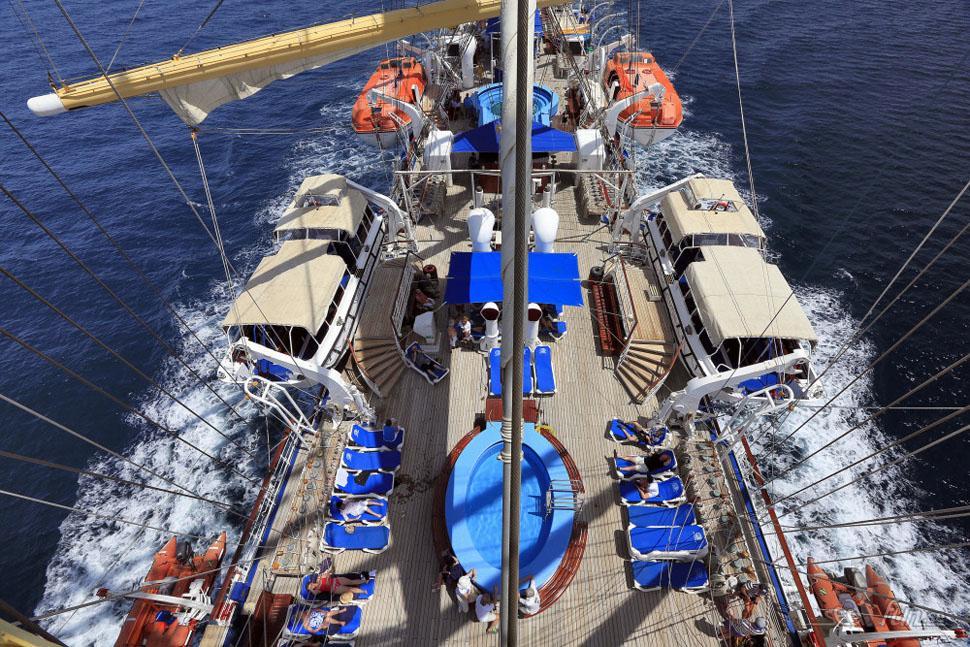 Däckliv på Star Clippers fartyg