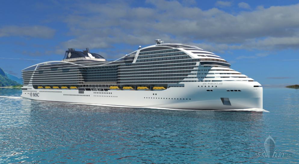 MSC Cruises satsar stort på fartyg med ny miljöteknik