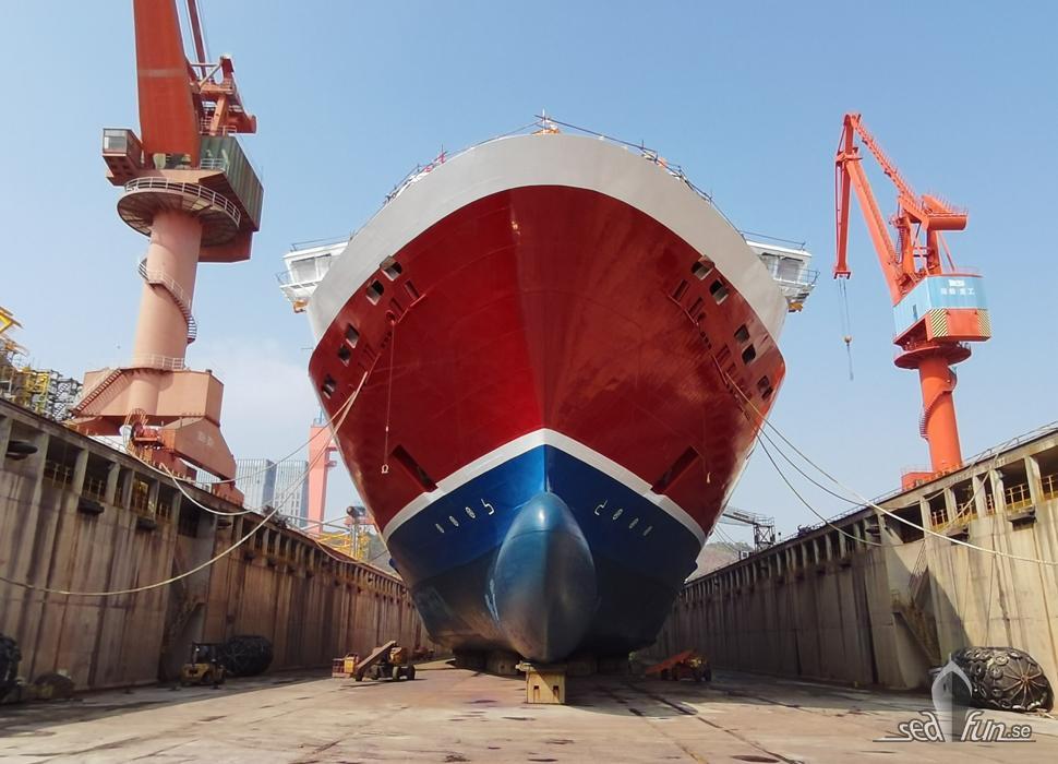sjösättning av Viking Glory.